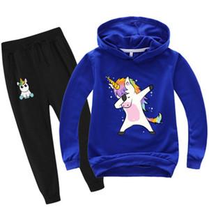 Toddler Tracksuit Autumn Baby Clothing Sets Children Boys Girls Unicorn Clothes Kids Hooded T-shirt Pants 2 Pcs Suits