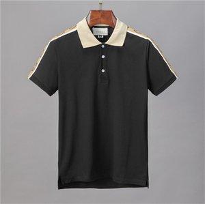 2020 Italia moda de lujo de diseño clásico de los hombres a estrenar del polo de las camisetas de manga corta bordado Carta hombre polos hombre del diseñador camisas de polo