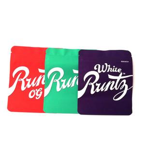 3.5g Blanco Runtz OG Bolsa con holograma Etiqueta y etiquetas Mylar Spell Pruebe Purple Red Green Bags Paquete DHL gratis