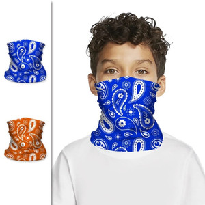 Stock américain, Enfants Unisex Magic Head Kid Masque Col Gaiter Bandana Tube Bandana Scarf Bracelet Bracelet Bonnet Cap Sports de plein air Masques FY7145