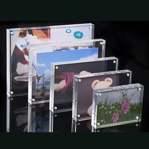 1*Freestanding Clear Acrylic Photo Frame Magnetic Picture Photo Poster Display Frame Table Sign Price Tag Label Paper Promotion C0927