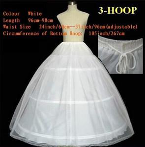 Оптовая Свадебное платье Petticoat скольжения регулируемый пояс Размер два слоя Три обручи Люкс Underskirt Кринолины Свадебные аксессуары