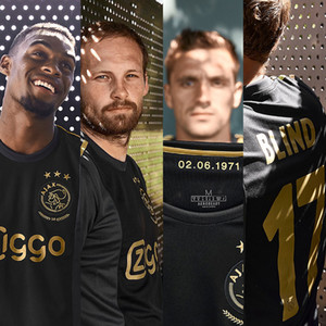 2021 ajax European jersey 50th soccer jersey gold black #11 PROMES 20 21 men third soccer shirts customized Football shirt
