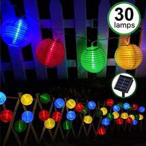 태양 광 LED 랜턴 문자열 조명, ibdone 16.4Ft 5M 파티, 크리스 20 LED 방수 옥외 장식 연극, LED 문자열 조명 손전등
