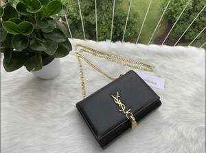 Kadınlar haberci çanta çanta kadın ünlü markaların tasarımcısı omuz çantası bayan cüzdan ve çanta siyah zincir tote bolsa Feminina A3 debriyaj