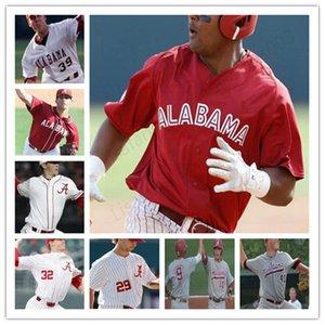 مخصص مخيط 40 جيمي نيلسون 16 أليكس أفيلا NCAA الاباما قرمزي المد COLLEGE البيسبول الرجال الشباب جيرسي 1 ميكي الأبيض 9 كودي هنري