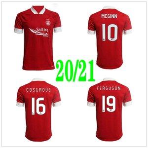 2020 2021 Aberdeen FC Soccer Jerseys 10 MCGINN 16 COSGROUE 19 FERGUSON CONSIDINE Custom 20 21 Home Red Football Shirt Uniform