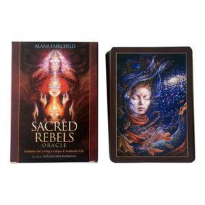 Famille jeu Rebelsingly Table de jeu de cartes Oracle Sacred Tarot Cartes divinatoires Cartes vacances Party Plateau Fate QMYbq