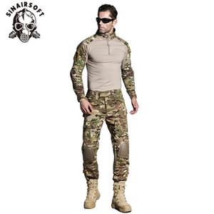 SINAIRSOFT tattica G3 BDU Camouflage uniforme di combattimento camicia pantaloni con ginocchiere Multicam Camo caccia di vestiti