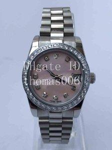 31mm Bester Verkäufer Uhr President Diamant-Lünette Frauen Stainless Uhren Der niedrigste Preis Damen der Frauen automatische mechanische Armbanduhr-Geschenk