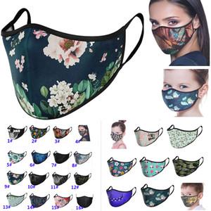 Adulte Enfant Masque Imprimé Fleur Designer Mode Masque Masque lavable réutilisable en tissu pour Cartoon animal camouflage 29 style DHL HH9-3206