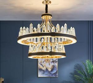 Nieuwe Luxe Ontwerp Woonkamer Led Verlichting Kristallen Lamp Kristallen Kroonluchter Moderne Verlichting Glans Pendant Lamps Chandeliers