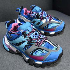 Париж Тройной S Track Release 3.0 Tess S неуклюжая Sneaker Мужского Gomma Maille Черных Женщины Tripler Повседневной обувь Горячая Аутентичная Мода обувь