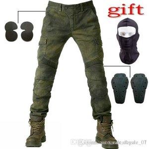 NUEVOS 2016 pantalones MOTORPOOL Ejército UBS06 verdes para los pantalones vaqueros montan en Moto suelta los pantalones vaqueros del ocio Versión con equipo de protección