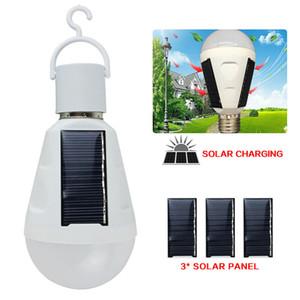 Großhandelssolaraufladeeinheit bewegliche Laterne LED-Birnen-E27 Wiederaufladbare Solar Notfall-Lampe Wasserdichte Outdoor-Camping-Zelt-Licht-Taschenlampe