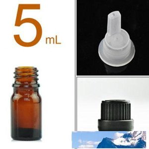 Glass Bottles for Essential Oils 5 ml Refillable Empty Amber Bottle with Orifice Reducer Dropper and Cap DIY Supplies Tool & Accessories