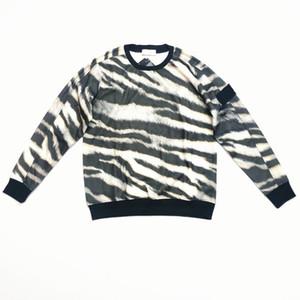 2020 camisola Men parte superior ocasional denim lavado Leopard fabric design decote enorme 300g de veludo personalizado overshirt inverno