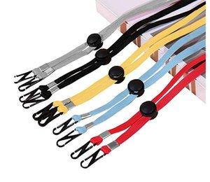 Gesichtsmaske einstellbar Lanyard Maske Seilausfahrung handlicher bequemer windundurchlässiges Seil Ruhe Ear-Halter Hang On-Ansatz-Schnur Hat Lanyard 100 Stückes