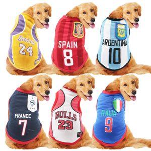 cães grandes cães de grande porte de ouro Satsuma uma mola de Fronteiras e de malha de verão colete Copa do Mundo de oito pares de uniformes de basquete roupas
