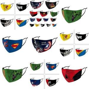 Nosotros, los niños de la mascarilla del diseñador Stock máscara de la máscara Riding Frío Protección Nueva araña super héroe del Niño Máscaras Capitán Escudo Punisher algodón