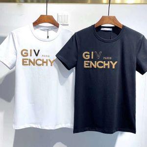 T-shirt estiva di lusso Black White Bianco Camicia di lusso uomo e donna manica corta uomini e donne con la stessa t-shirt casual manica corta hip-hop t-
