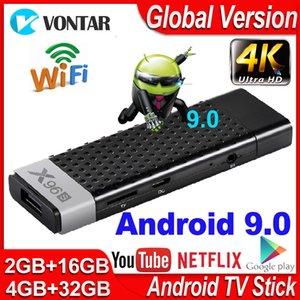 X96s Smart TV Box Android 9.0 Çubuk 4GB RAM DDR3 Mini Dongle Amlogic S905Y2 2.4G5G Wifi BT4.2 4K TVBox Media Player'ı 60fps