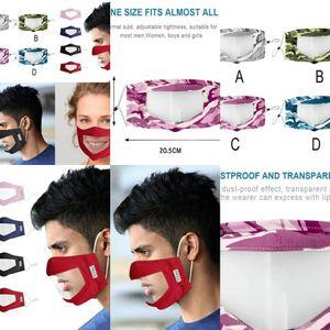 Pvc Janela United Fashionmia crianças para o Com Limpar reutilizáveis Máscaras Deaf Unido Abastecimento Máscara protectora da Venda Mulheres WkgPc