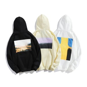 FOG street fashion brand ESSENTIALS rich landscape oil painting fleece hooded sweater men's and women's bfwind coat fashionR632