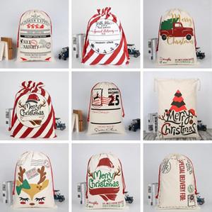 Sacco di natale Borse di Natale della tela sacchetta natale clausola da regalo Renne di Santa Sack ornamento partito Xmas Decora bagagli Borse LSK706