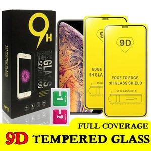 cgjxsFor Iphone 11 9d Cover en verre pour Iphone Xs Xr 7 8 Plus Iphone 11 Pro Max Film Temper verre protecteur d'écran