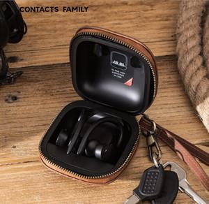 Convient pour Powerbeats Pro casque cas Crazy Horse Leather Magic son boîtier du casque sans fil Bluetooth