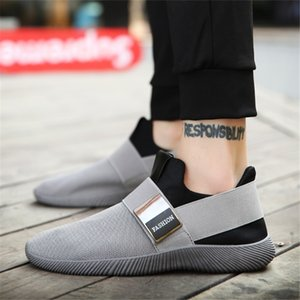 Zapatos De Lona Zapatos De Los Hombres Zapatillas Deporte Transpirables Mocasines Ultra luz casuales Para Hom Kayma-on