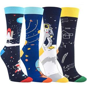 Носки Красочные моды мужские носки хлопка Четыре Стиль Mens Casual Математика Носки мужские Проектировщик Printed