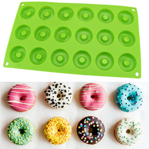 4cm Donut Dessert Baking Pan 18-Cavity Silicone Mould Bakeware Mini Chocolate Donut Silicone Mold Biscuit Cake Molds Tools