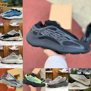 2020 nuevos zapatos de Kanye West 700 V3 para hombre barato inercia Azael Alvah Azarath Utilidad Negro corredor de la onda MNVN Fósforo Orange Bone mujer Trainer