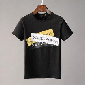 Los diseñadores de moda las camisetas de los hombres calientes del dragón de impresión de letras a corto Sleeve Crew Neck T Shirts Street Style Hombres Tee Tops