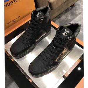 Hohe Version, die Auflistung neuer Mens-Breathable beiläufige Schuh-Mode-Männer Schuhe, Persönlichkeit Reißverschluss Dekoration Mens hohe beiläufige Sportschuhe 0038