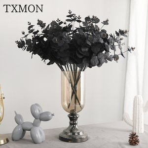TXMON Neue Simulation 5 Zweige 20 Kopf Eukalyptus Dekoration zu Hause Desktop-Dekoration Hochzeit Straße führen künstliche gefälschte Blume