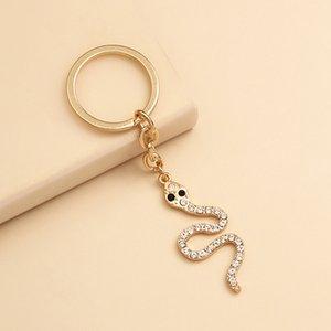 Cadeia bonito cristal Cobra Key Mulheres Acessórios de Moda Anel menina Bling Bling animal Cobra chave para o partido presente