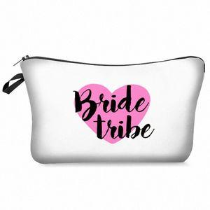 BagVogue gelin kabile Isı Transfer Baskı Kozmetik Çanta Moda Kadınlar makyaj çantası 7A1A #