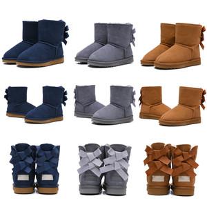 Bottes bottes de neige chaude jeunes étudiants neige bottes d'hiver 2020 nouvelles véritables enfants australiens qualité ugg women men kids uggs slippers furry boots slides