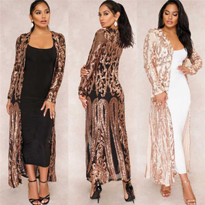 BAIBAZIN New Manto da casaca Bazin riche Africano para as mulheres Sexy Sequins Perspectiva Cardigan Manto do One Coat