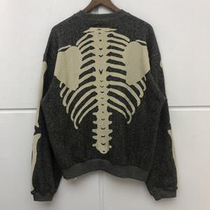 Esqueleto do osso KAPITAL Crewneck Moletons Homens Mulheres de melhor qualidade Pullovers Oversize KAPITAL Hoodie streetwear harajuku T200813