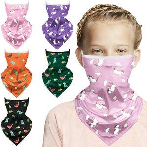 3D Magic Dinosaurier bandana Kid Waschbar Schutz Kopfbedeckung magischer Schal im Freien Multifunktionslauffahrrad Schale Großhandel EWD799