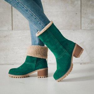 Hot Sale Fashion Winter Boots Size 12 Half Boots Half Boots for Women 2019 Large New Shoe In The Tube Two-wear Snow Shoe for Women XXX-013