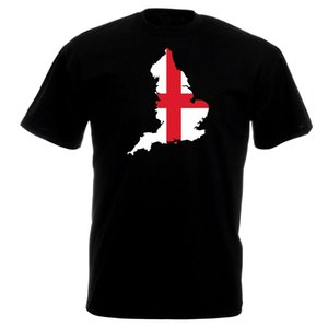 Angleterre Plan Drapeau Hommes T-Shirt - English Country Football Rugby Top cadeau