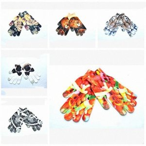 Funny Woman Man Adults Fashion Gloves 3D Animal Food Cartoon Printed Finger Gloves Gift Accessories WY232Q yGEe#
