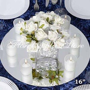 decorazione della tavola di nozze centrotavola placca a specchio candela rotonda per mariage decorazione de tavolo piastra a specchio acrilico