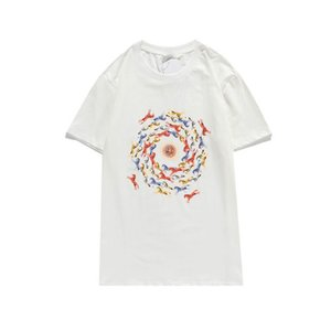 2020 New Arrivals Men's Shirt Stylist Tshirt Grace Printed T Shirts Men and Women Short Sleeve Solid Color Top Quality Tees 2 Colors S-2XL