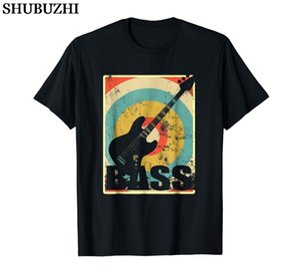 Vintage Electric Bass Guitar T-Shirt Guitar Gift for Men Hot cotton Fashion Black Cotton T-Shirt Custom Tee Shirts